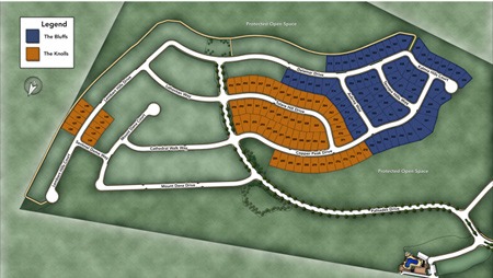 The Bluffs at Tassajara Hills Site Plan II Siteplan