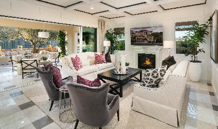 Open Concept Great Room with Fireplace