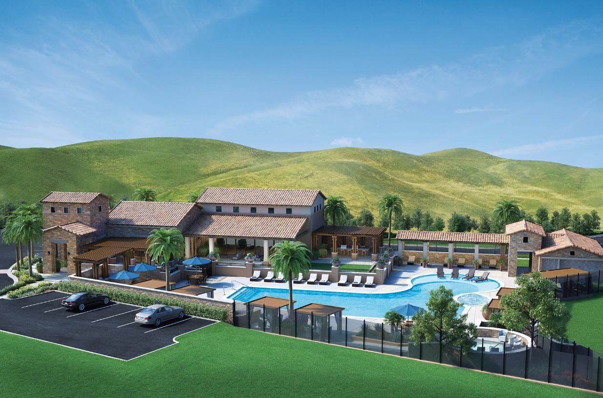 Future resort-style clubhouse featuring a pool, two spas, private cabanas, a culinary kitchen and multipurpose room that residents can reserve for hosting parties and events.