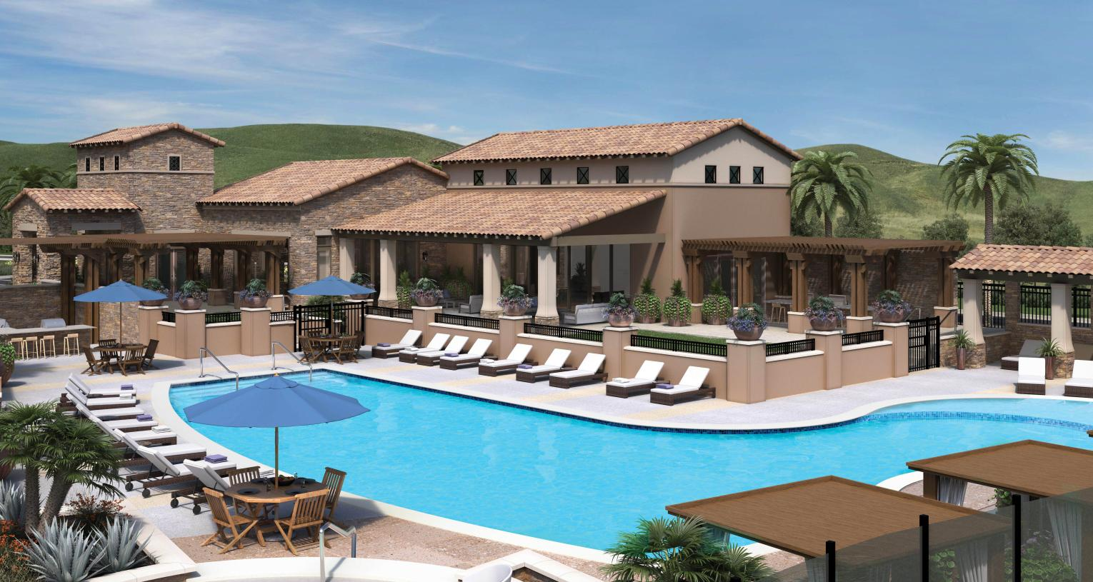 Future resort-style clubhouse and pool