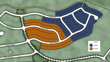 The Knolls at Tassajara Hills Site Plan II Siteplan