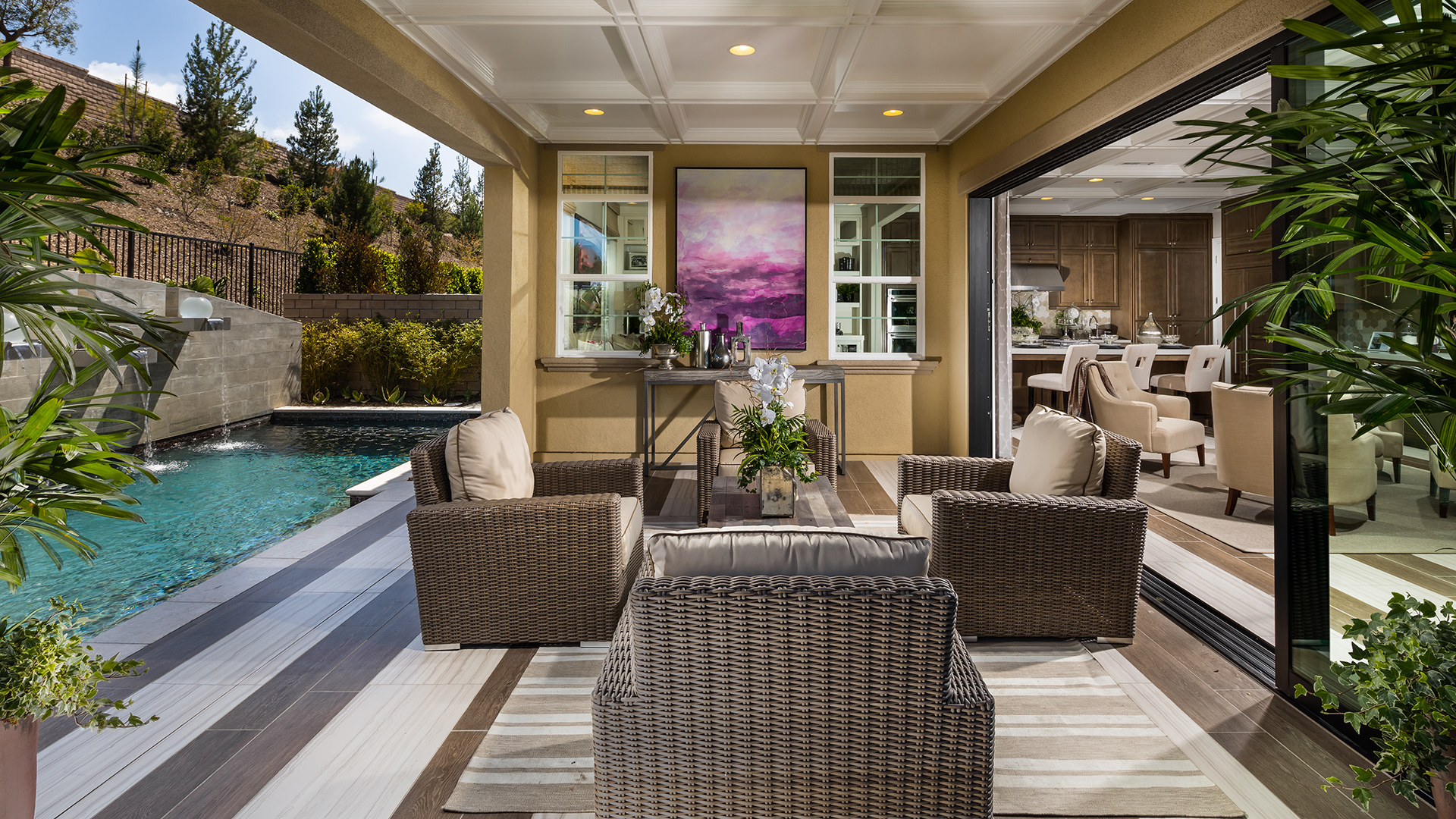 Luxury outdoor living space.