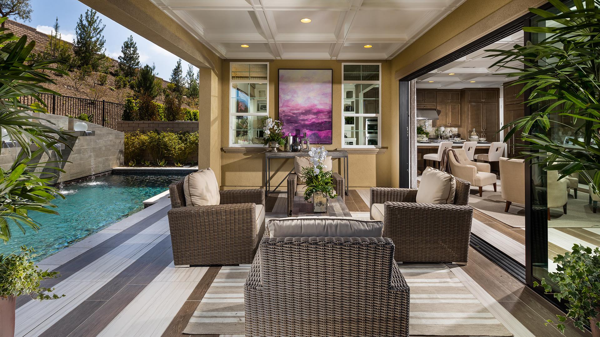 Luxury outdoor living space.