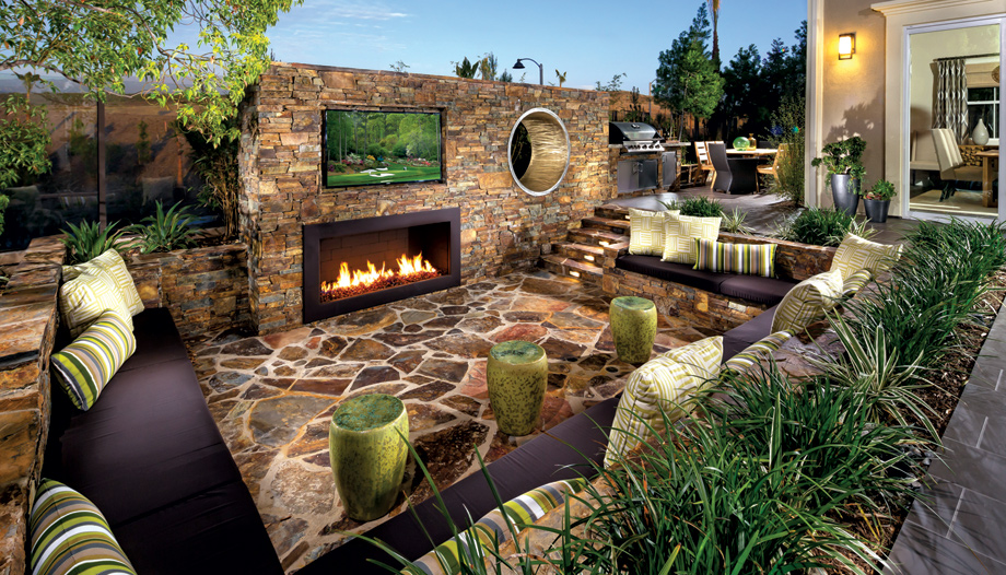 New luxury homes for sale in lake forest ca madison at Relaxed backyard deck ideas