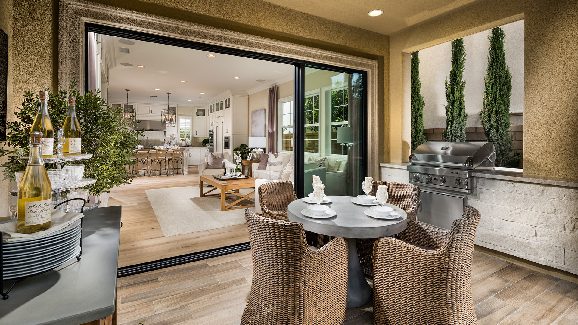 Lake forest ca new construction homes lexington at parkside for Luxury outdoor living