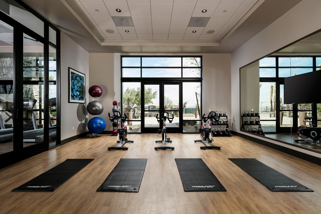 Regency at Summerlin Clubhouse yoga studio