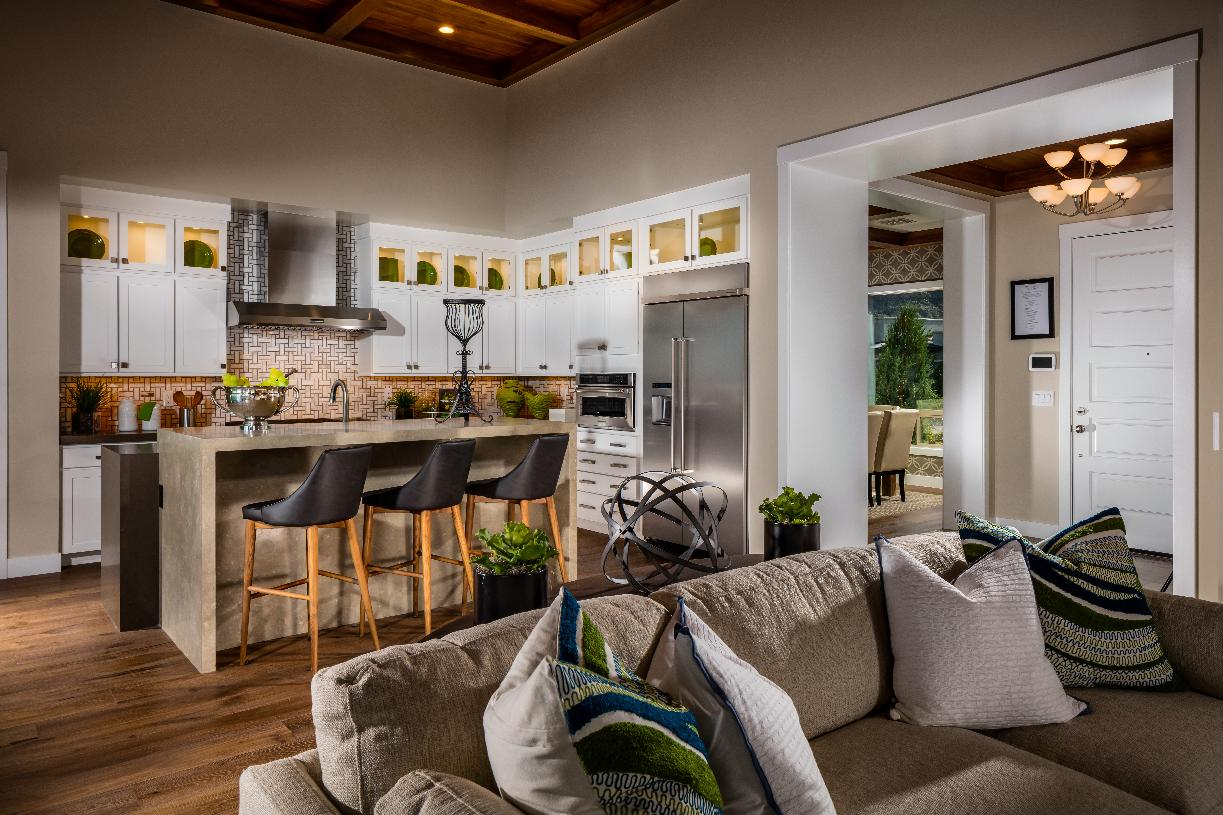 Open kitchen with an abundance of counter space