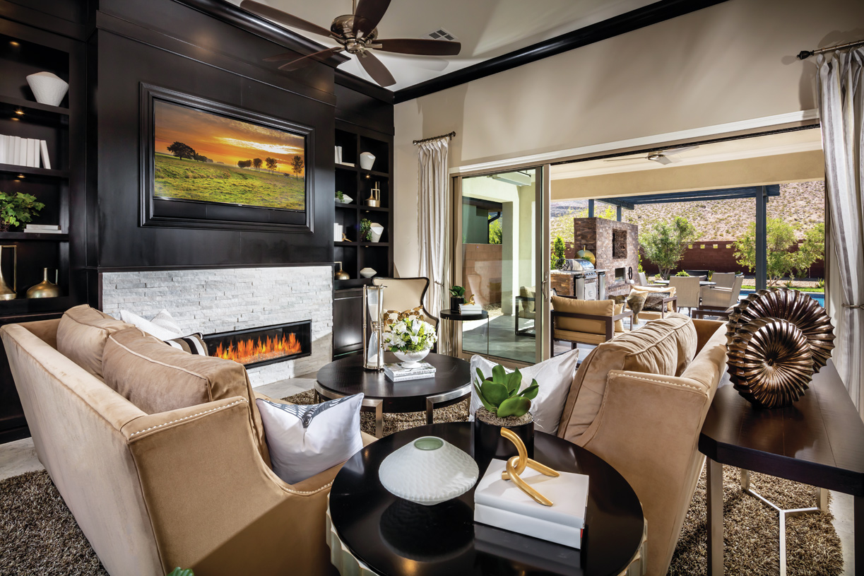 Cozy great room with fireplace