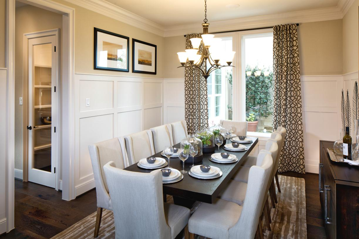 Formal dining room with direct access to the kitchen