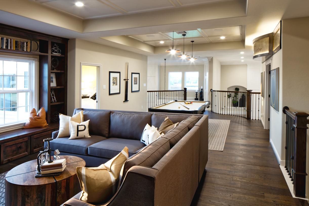 Second-story flex room offers a versatile space