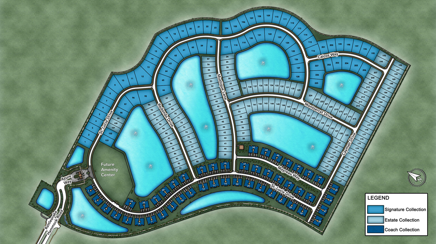 Azure at Hacienda Lakes Overall Site Plan