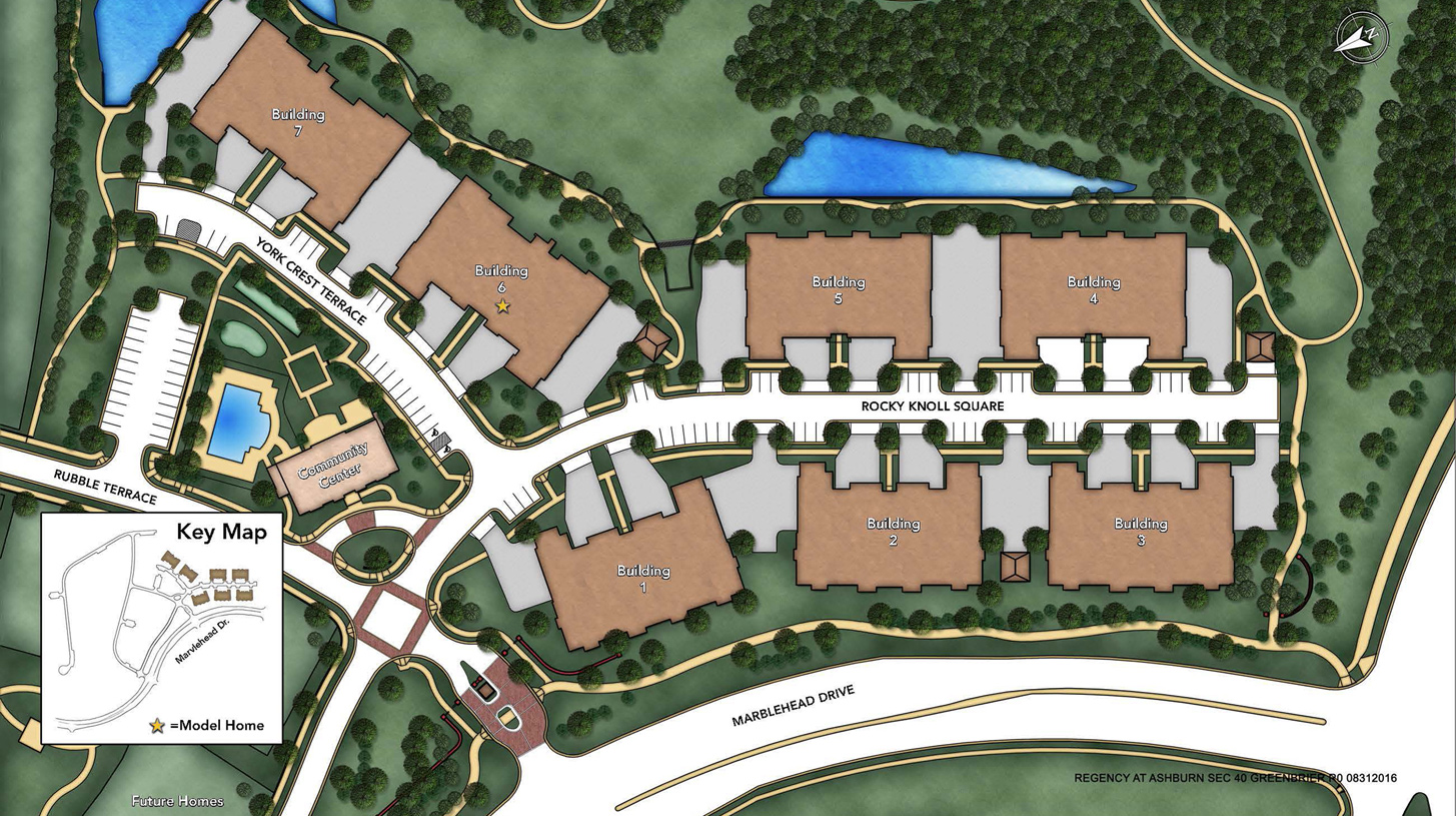 Regency at Ashburn - The Greenbrier Overall Site Plan