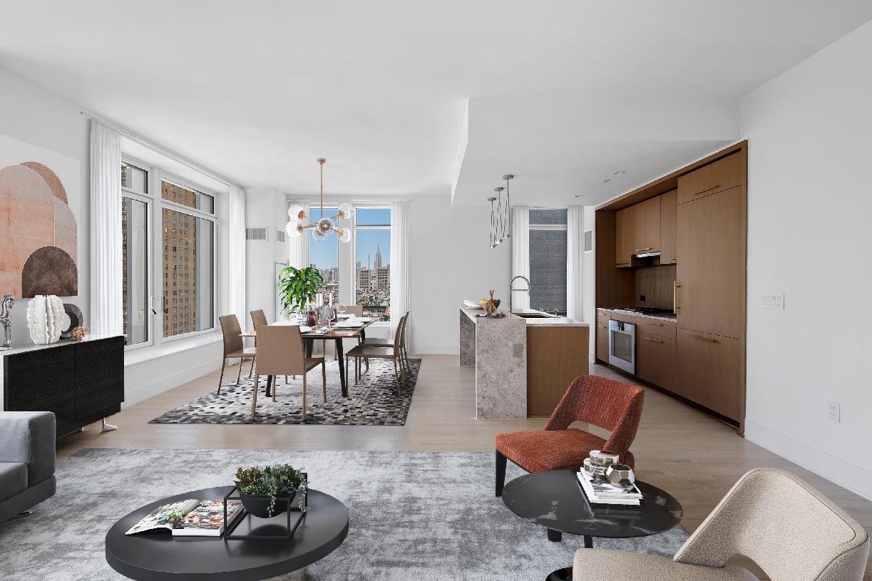 Residences 14E-15E living room