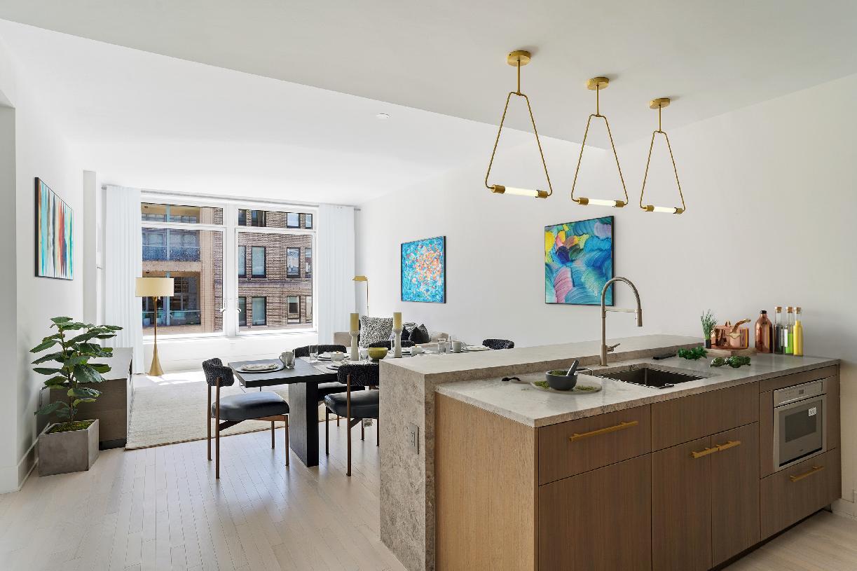 Residences 12B-13B living room