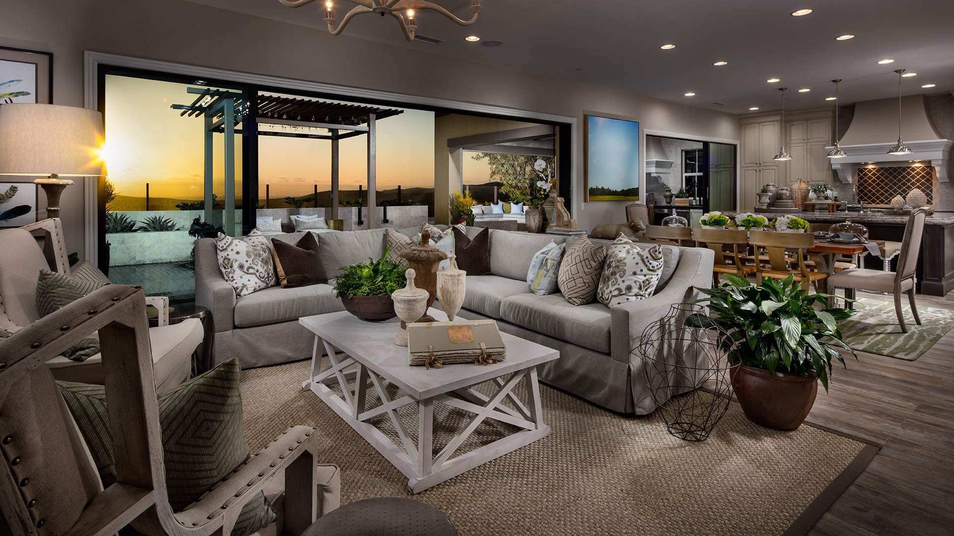 Open floor plans offer great space for hosting friends and family.