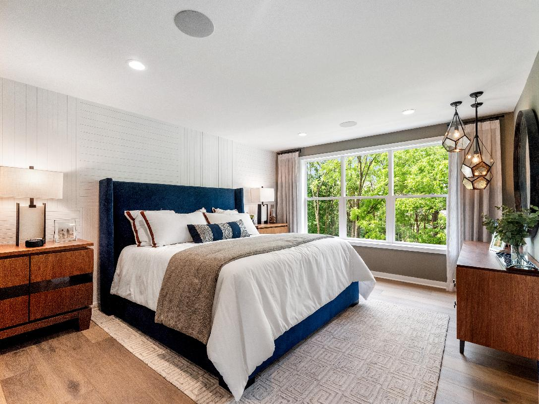 Spacious bedrooms and convenient laundry room on bedroom level