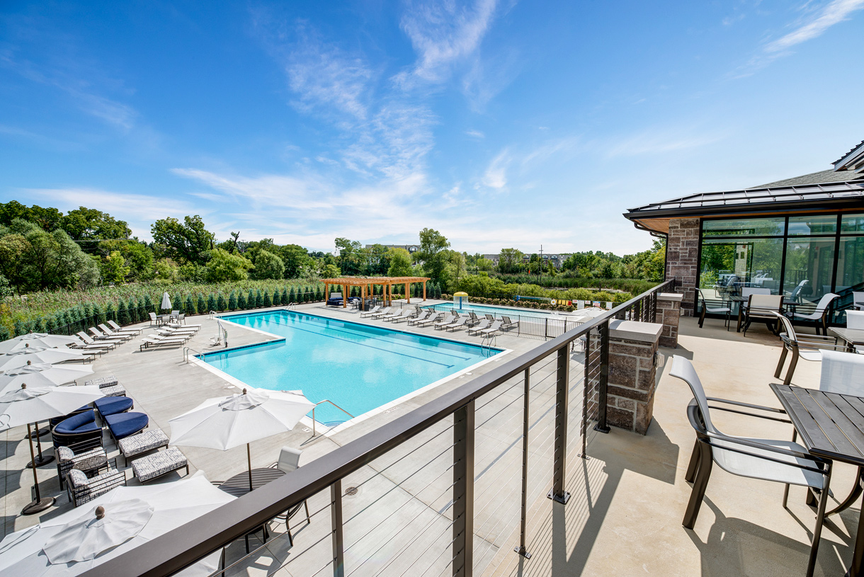 Two outdoor pools and multiple terraces to enjoy