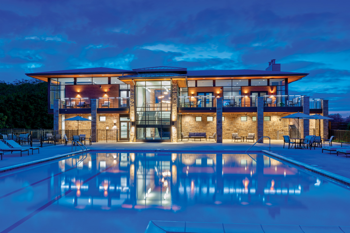 Stunning clubhouse with three levels of entertainment ideal for community social gatherings or private rental