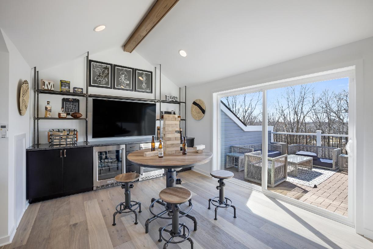 Optional loft space with rooftop terrace