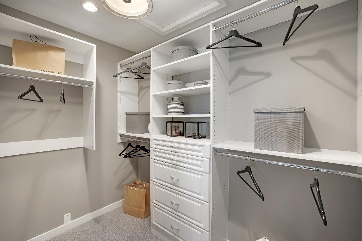 Large primary walk-in closet