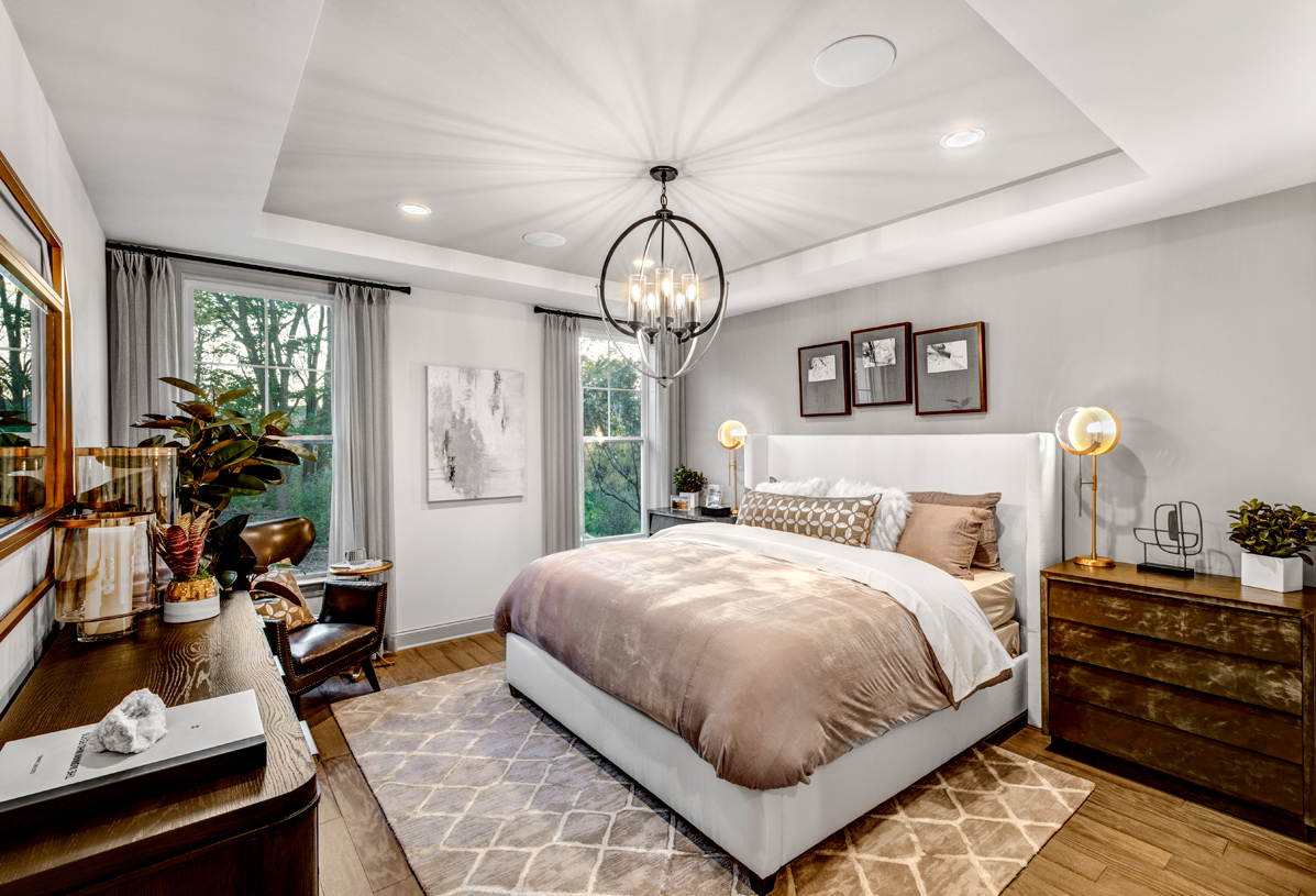 Luxurious first- or second-floor primary bedroom suites
