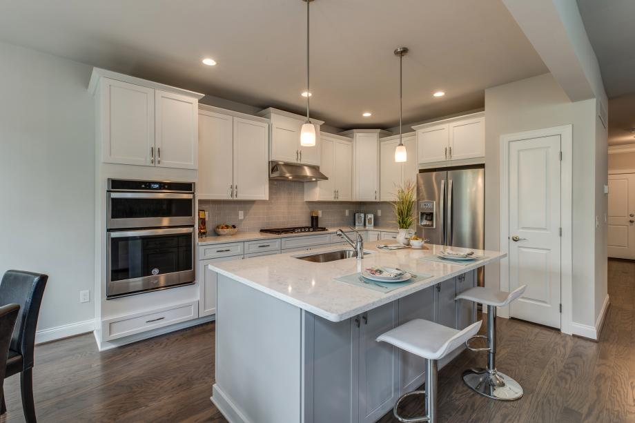 Gorgeous expanded kitchen with large center island