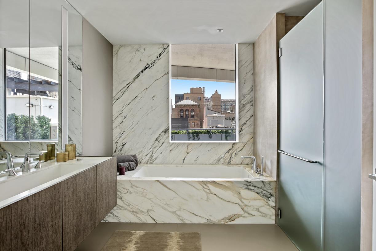Primary baths with radiant heated floors
