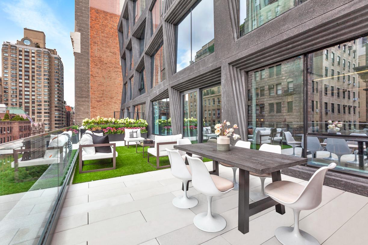 Most residences have private outdoor spaces