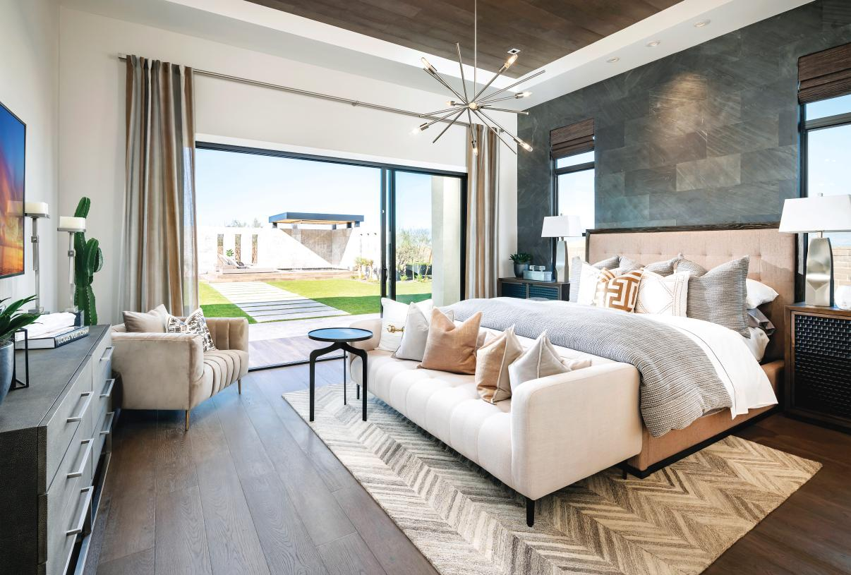 Oversized primary bedroom suites provide an ideal retreat