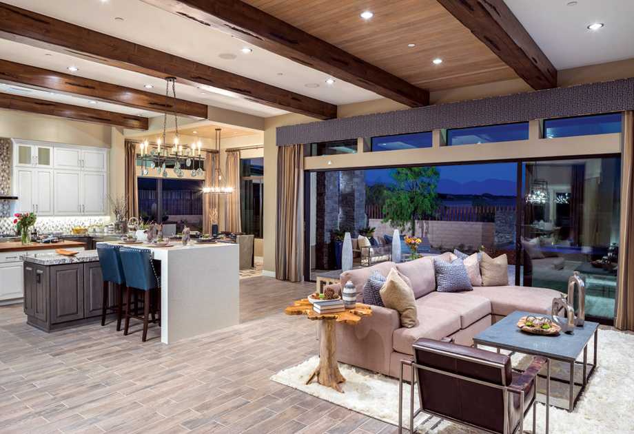 Entertaining is easy in the Montierra home design.