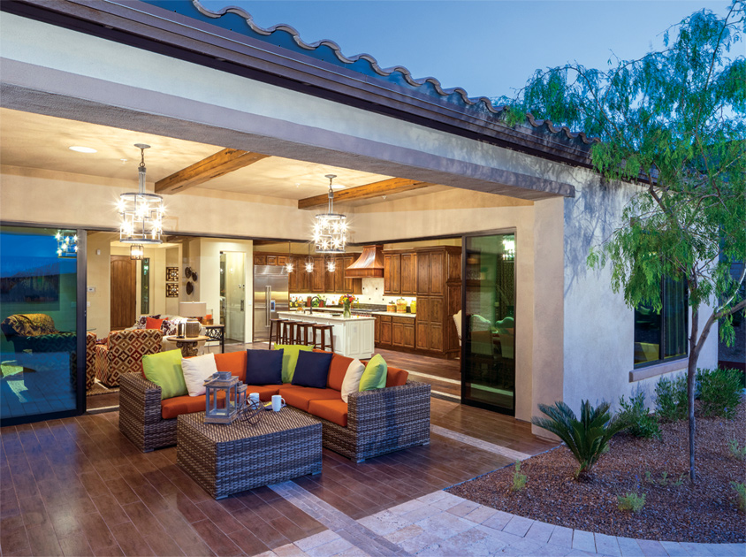 The Montilla Home Design Lives Well Both Indoors And Outdoors.