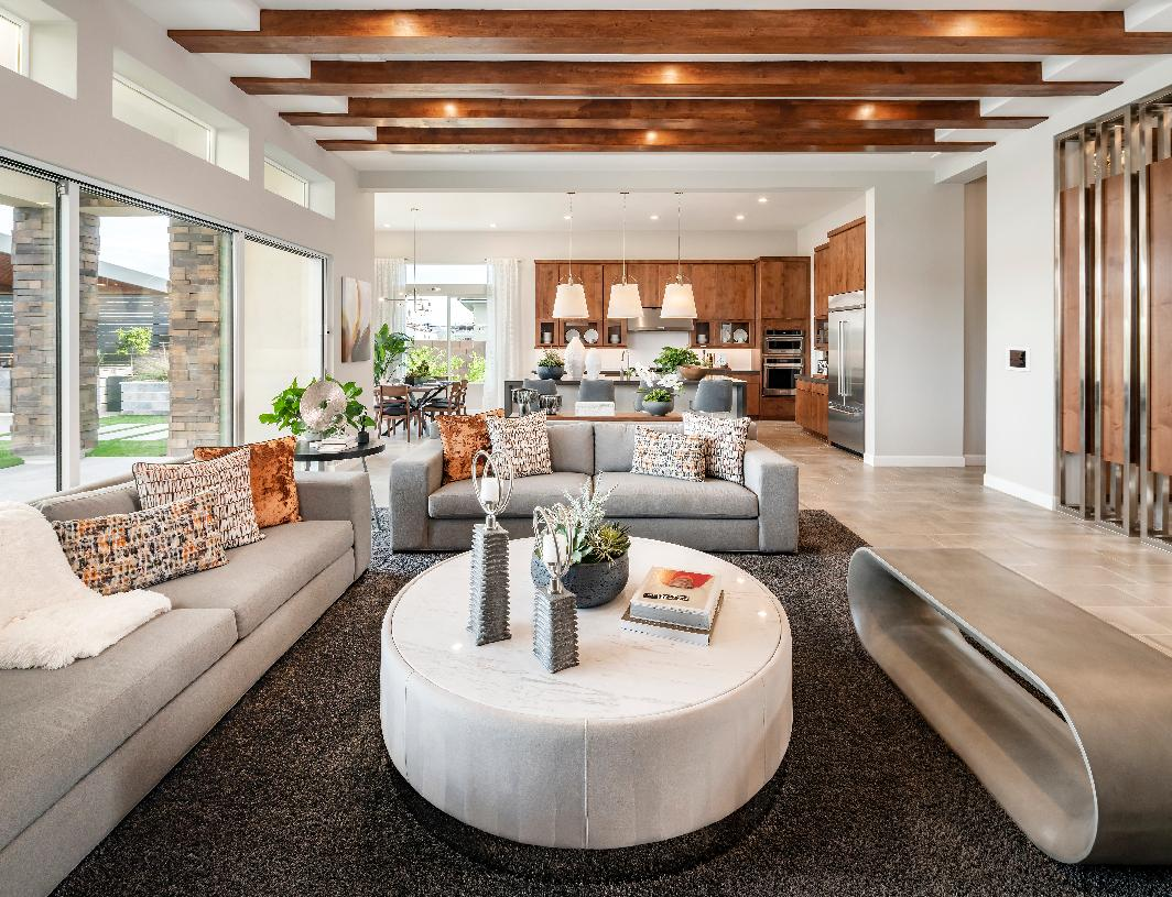 Open great room, kitchen, and dining room perfect for entertaining