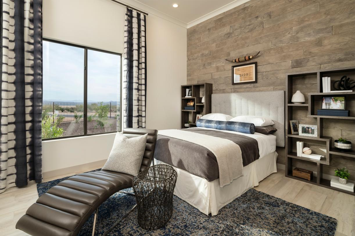 Spacious secondary bedroom with mountain views