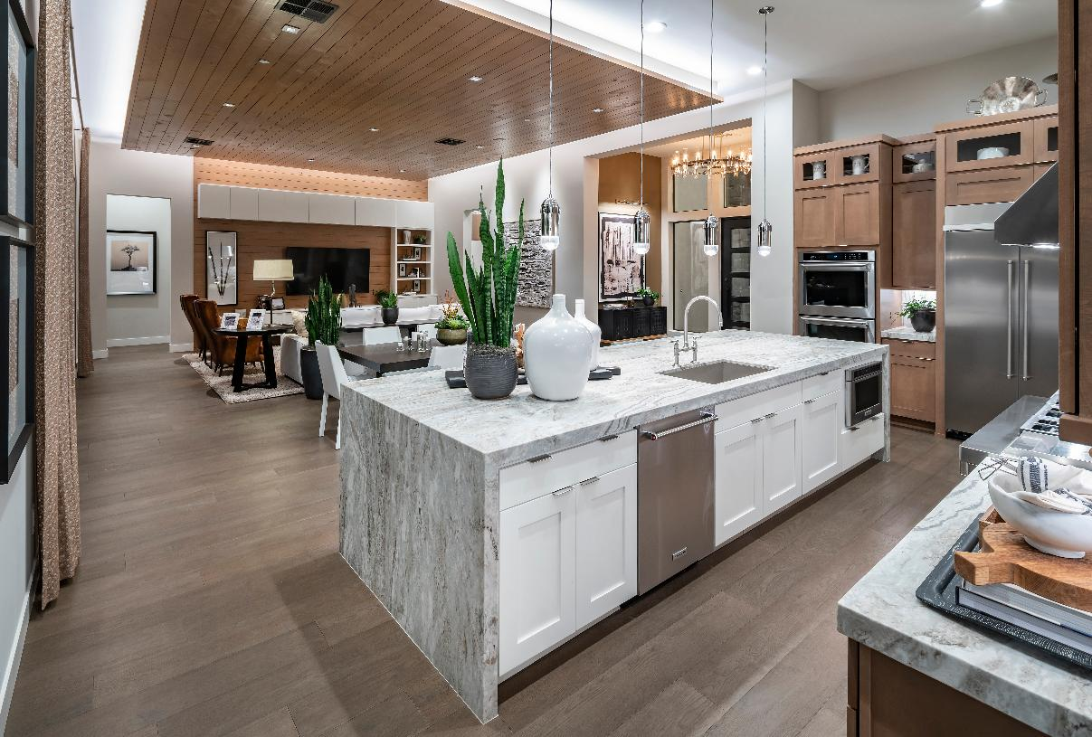 Beautiful kitchen overlooking the dining room and great room