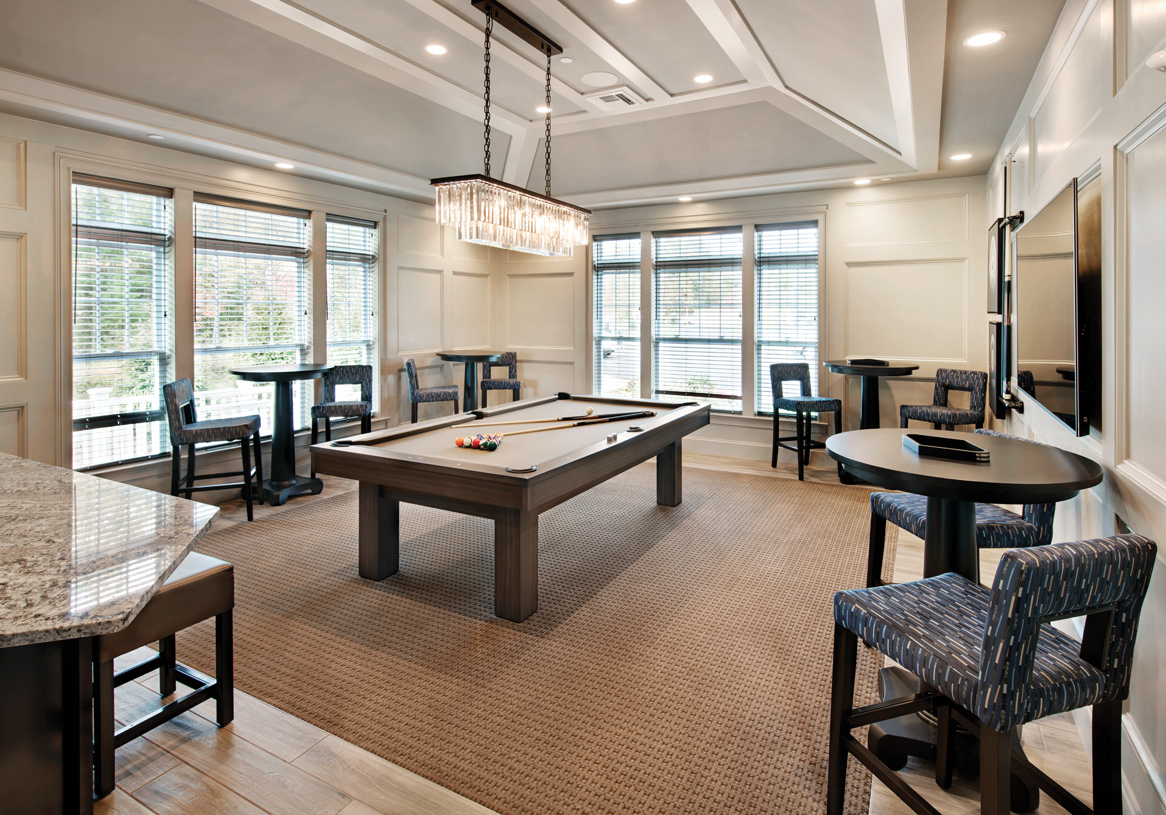 The Vista Club - Billiard/card room with a bar, kitchenette, and more for entertainment