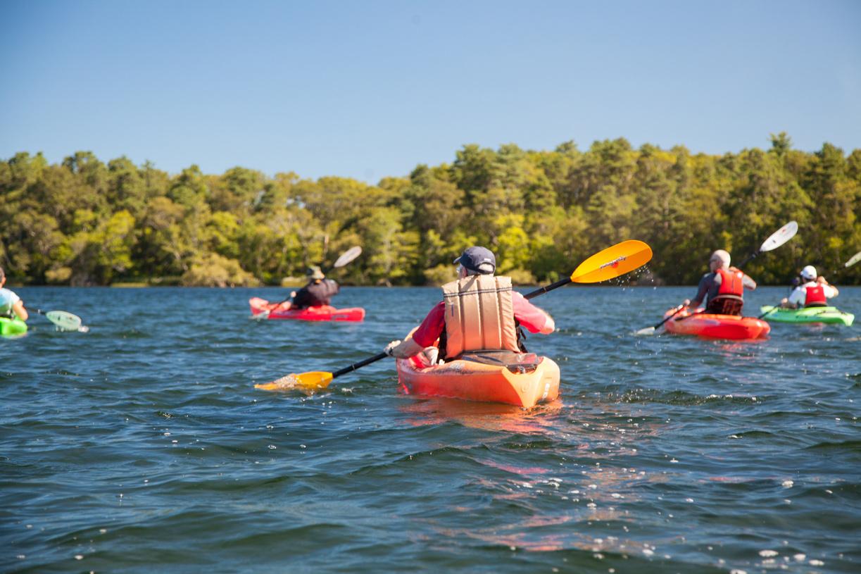 Pinehills kayaking on Great Island Pond