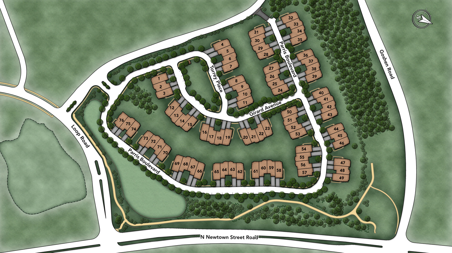 Enclave at Ellis Preserve Overall Site Plan