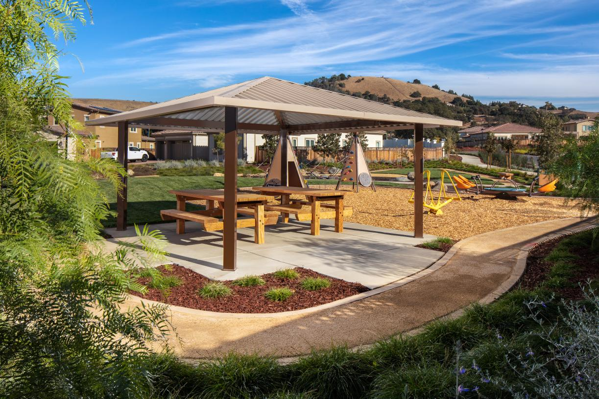 Toll Brothers Borello Ranch Estates in Morgan Hill resident tot lot park