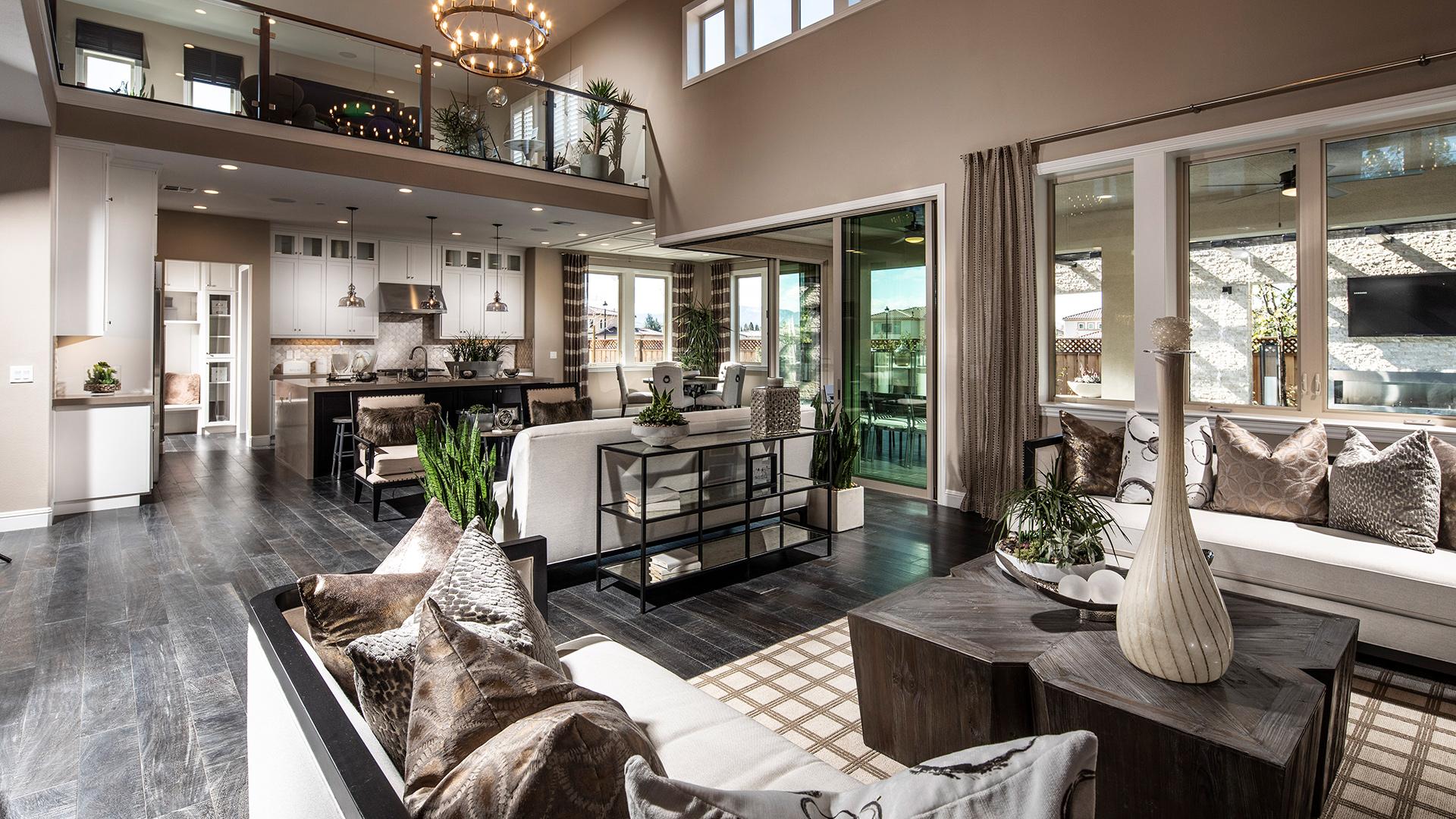 Open-concept floor plans