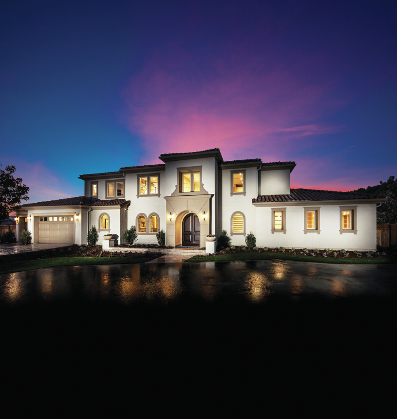 Luxury home with elegant curb appeal