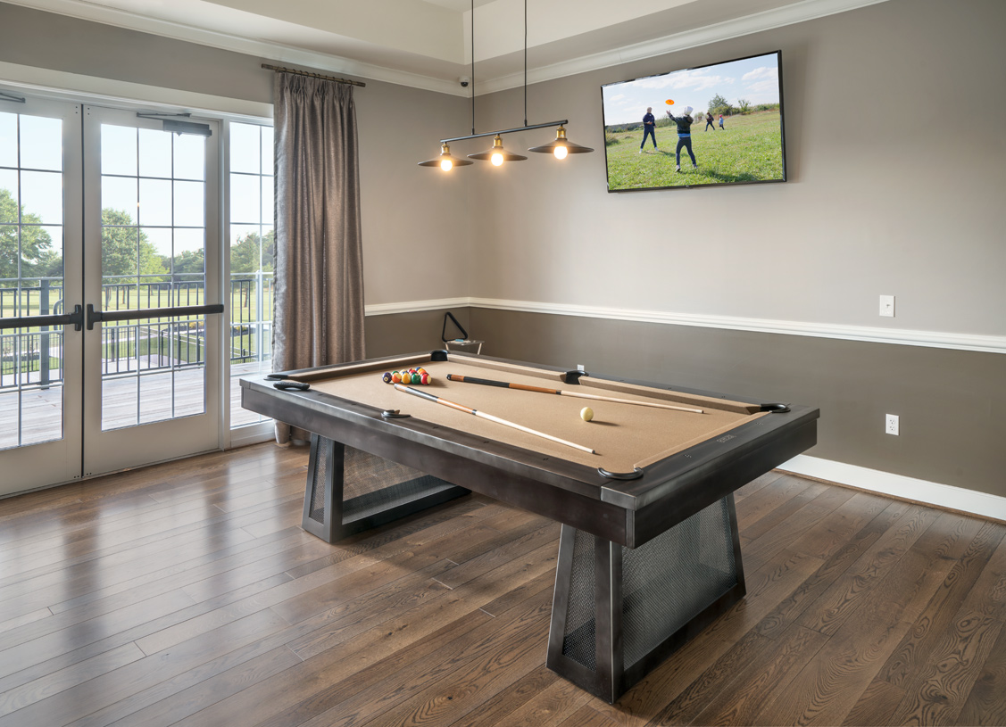 Play a game of pool with your neighbors in the clubhouse