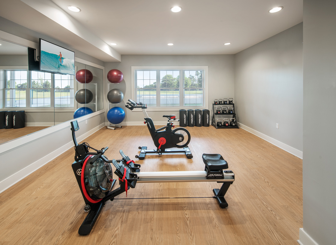 Community clubhouse fitness room