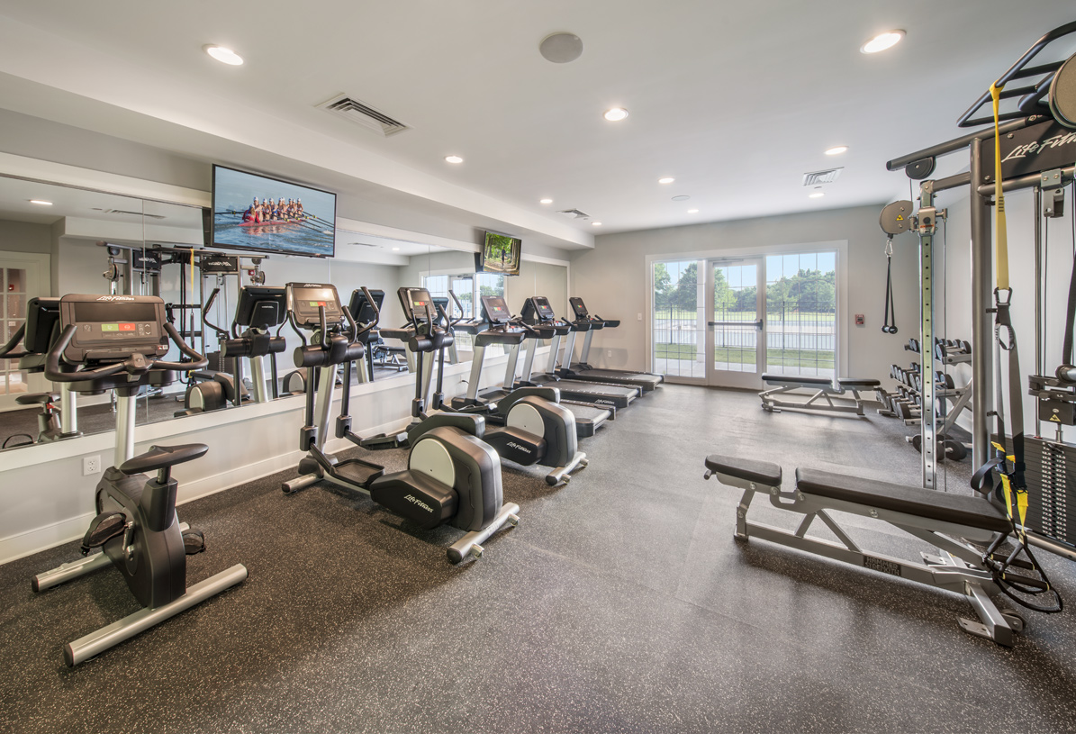 Stay fit in the fitness room in the clubhouse