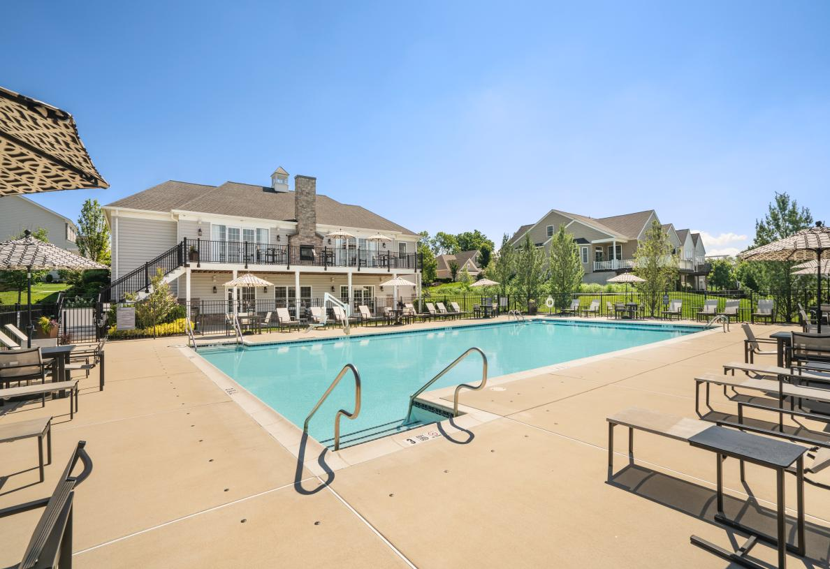 Spend summer days at the outdoor pool