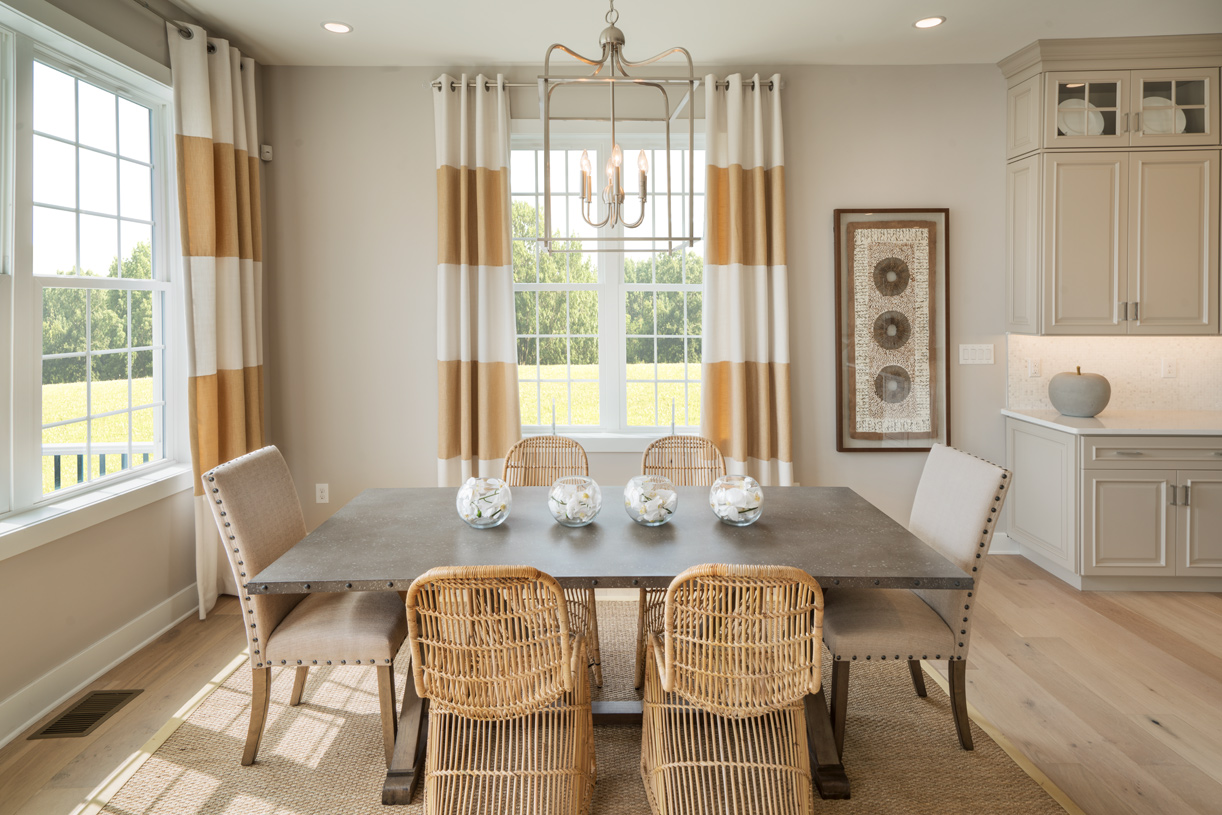 Sunlit casual dining areas