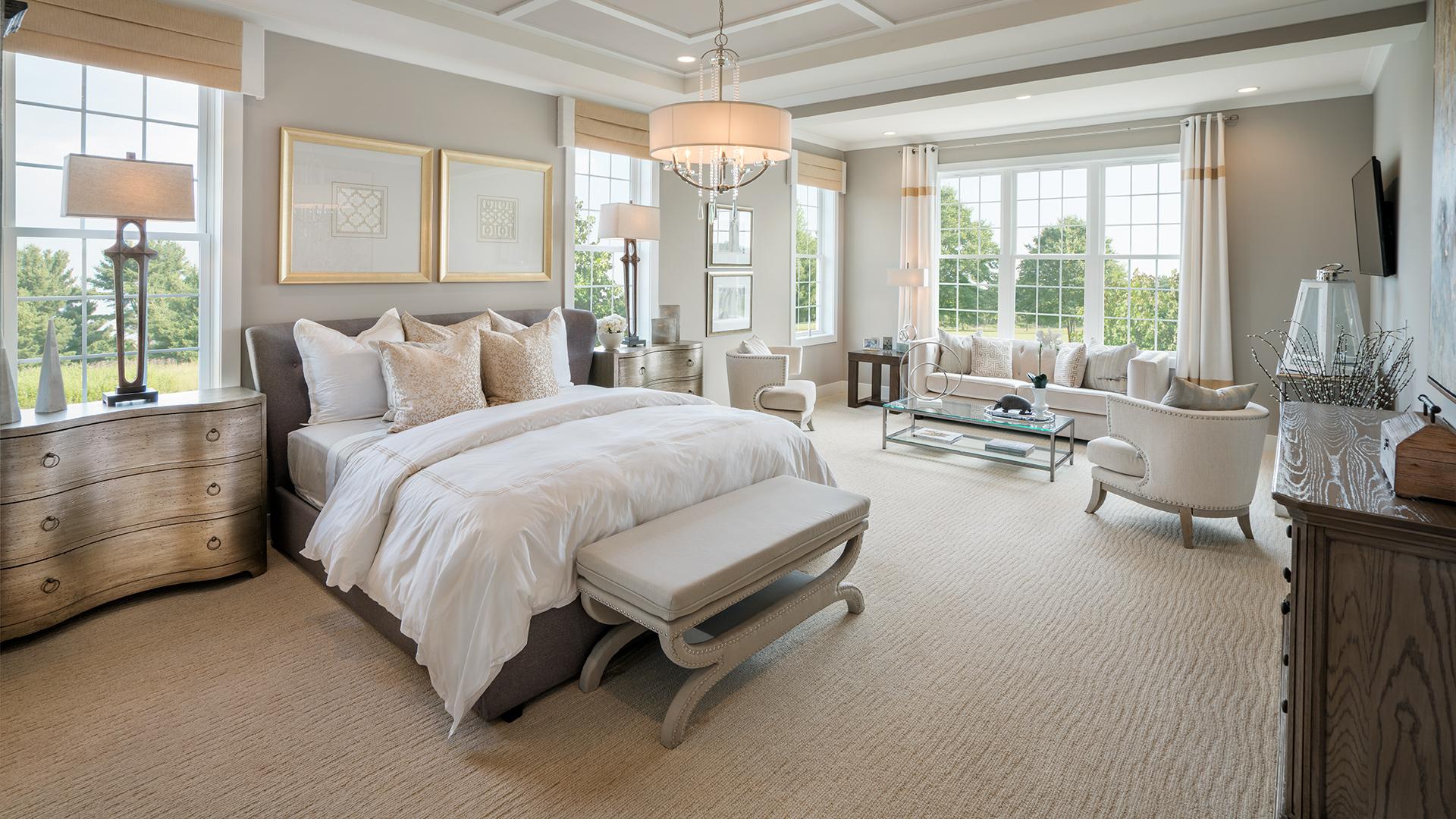 First-floor primary bedroom suites