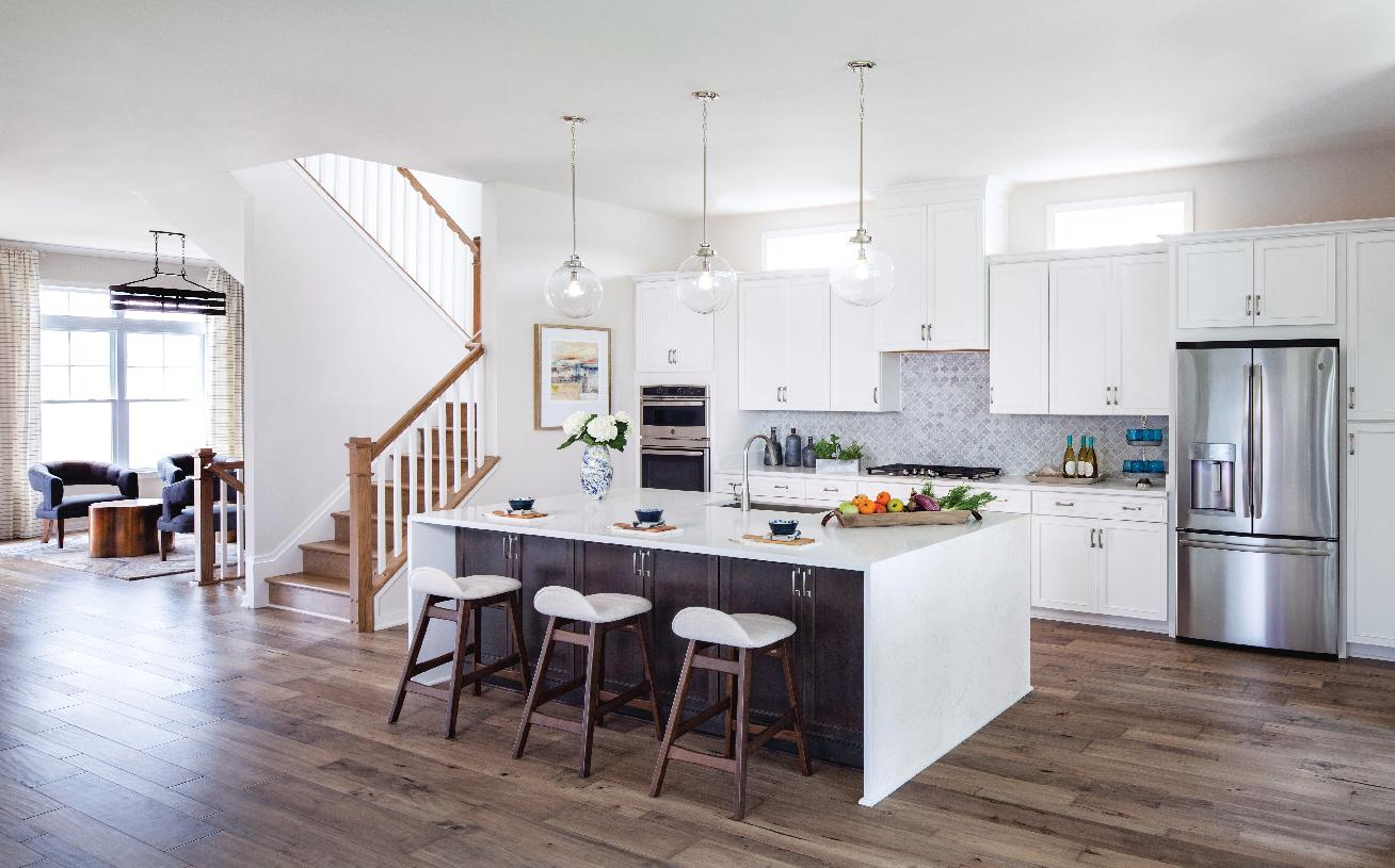 Large kitchen with ample cabinet space and large center island