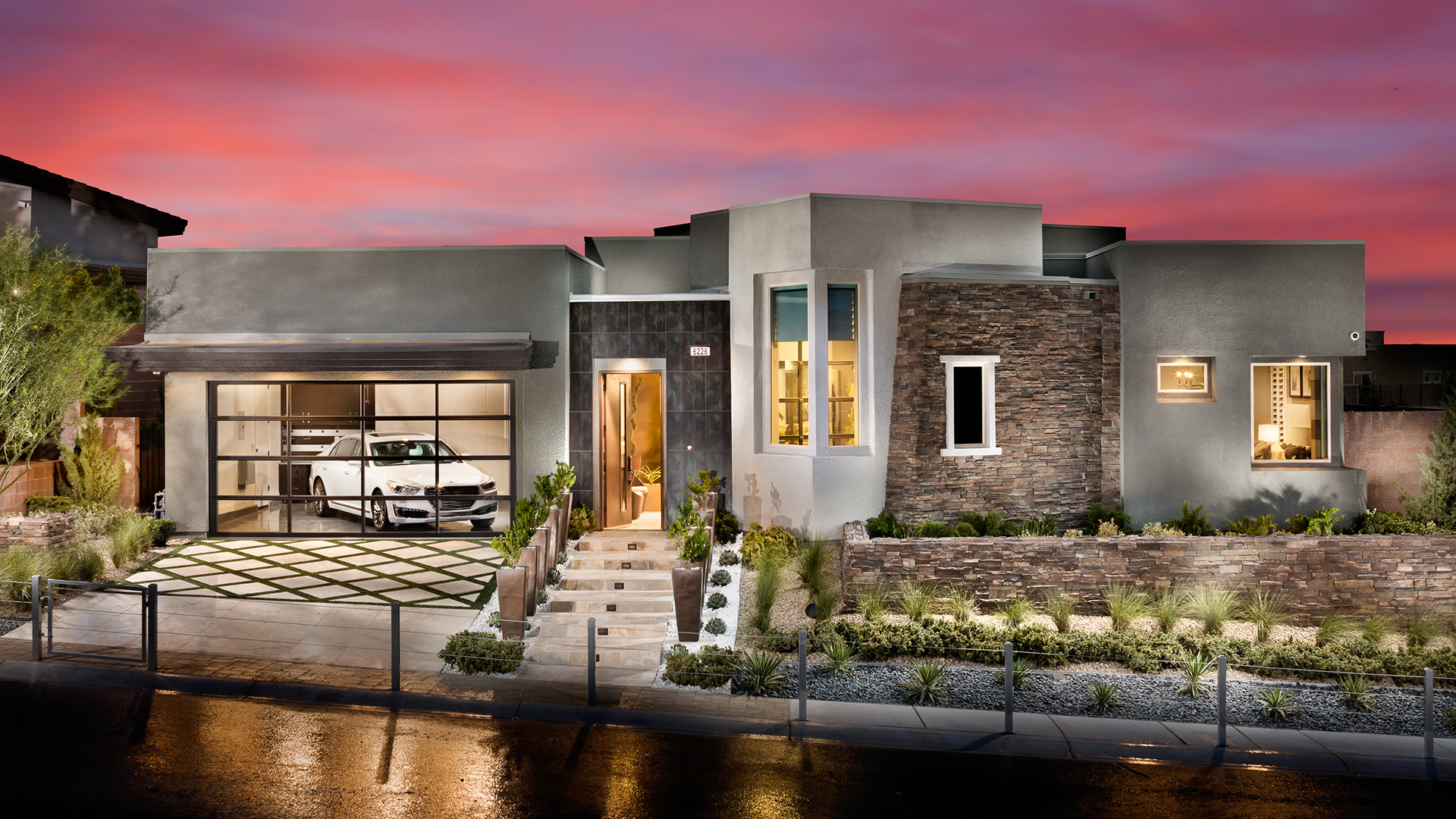 Front Elevation With Granite : Las vegas nv new homes for sale granite heights