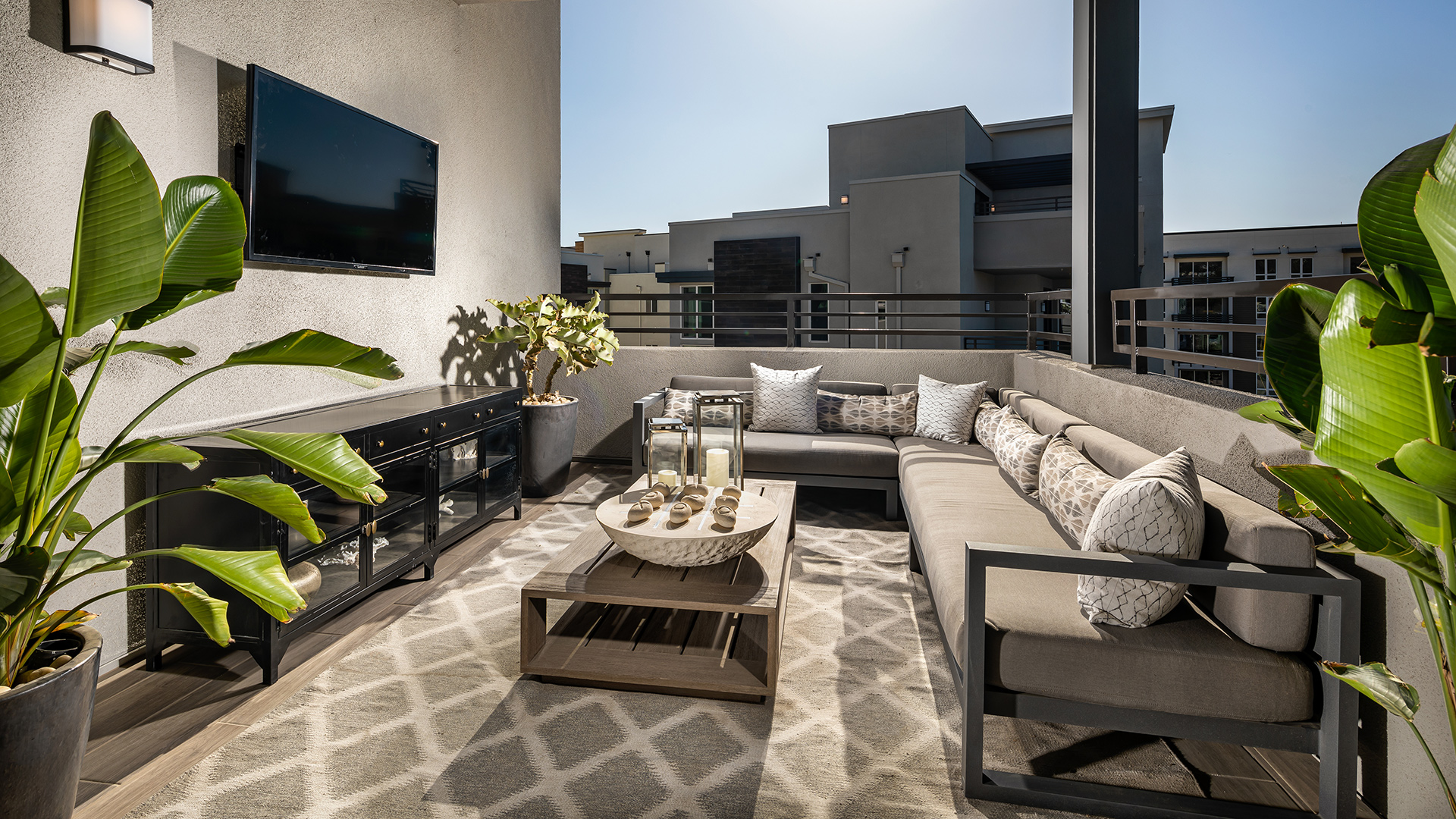 Airy terraces in every home