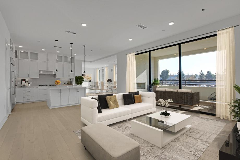 Gracious Living Area, Kitchen and Great Room